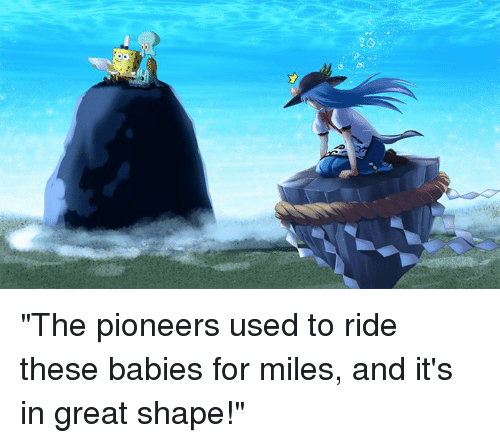 ✅ 25  Best Memes About the Pioneers Used to Ride These Babies for ...