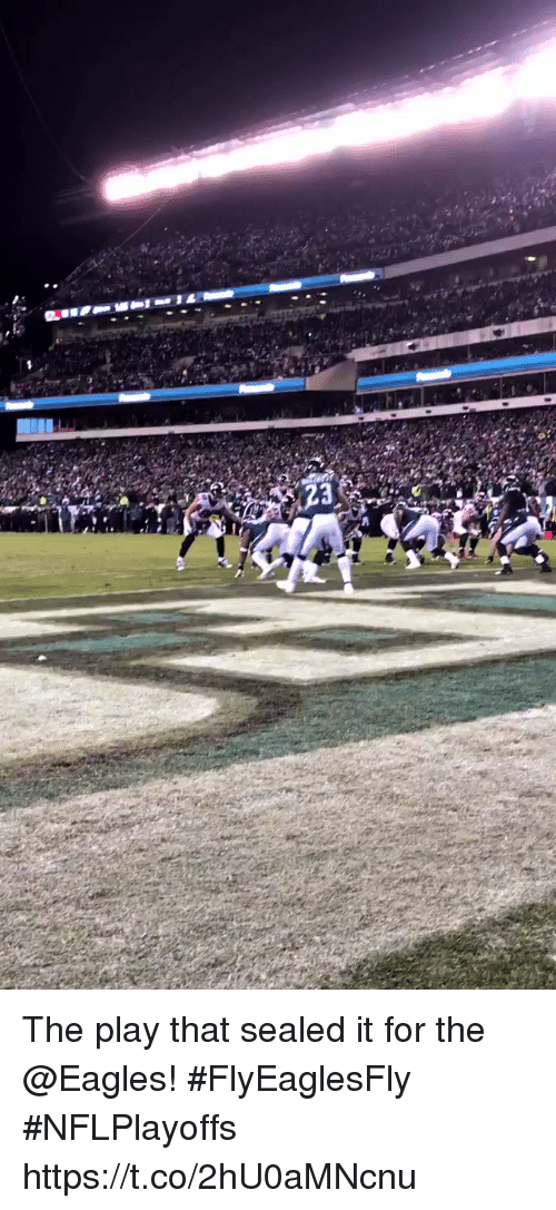 Philadelphia Eagles, Memes, and The Play: The play that sealed it for the @Eagles! #FlyEaglesFly #NFLPlayoffs https://t.co/2hU0aMNcnu