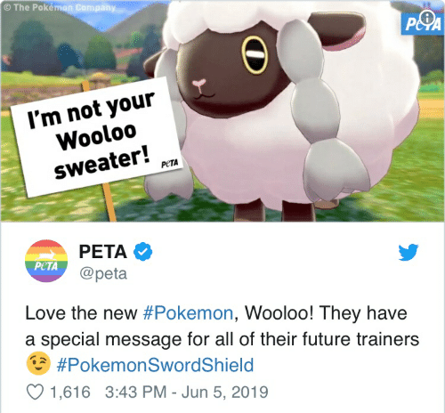 The Pokémon Company P&PA I'm Not Your Wooloo Sweater! РЕTА