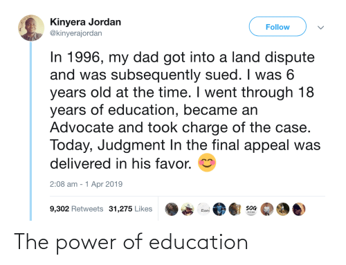 Power, Education, and  the Power: The power of education