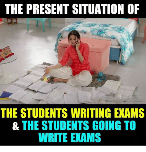 The Present Situation Of The Students Writing Exams The Students