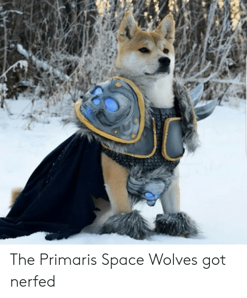 Space, Wolves, and Got: The Primaris Space Wolves got nerfed
