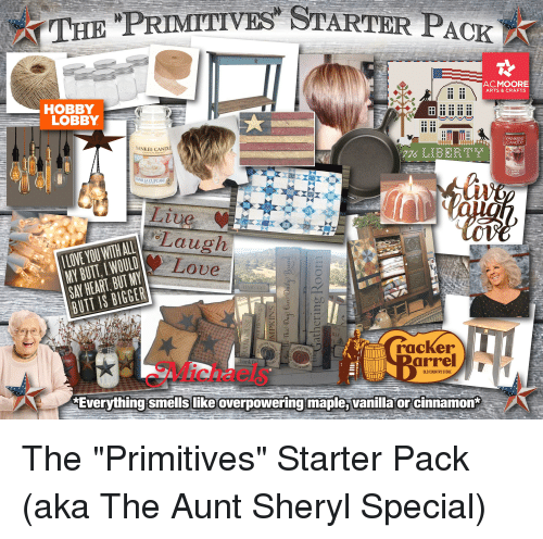 The PRIMITIVE STARTER PACK ACMOORE ARTS & CRAFTS HOBBY LOBBY