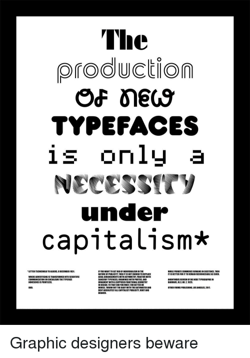 Capitalism Drawings And Nature The Production TYPEFACES Is Only A Uncer