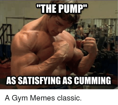 Gym, Memes, and Classics: THE PUMP  ASSATISFYING AS CUMMING A Gym Memes classic.