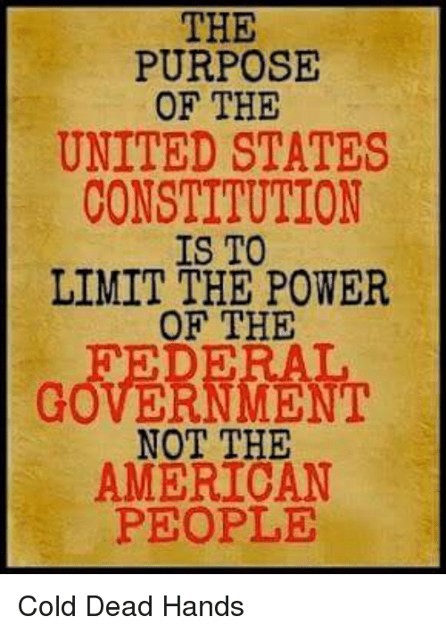 limiting the rights of the people by government in united states As a compromise necessary to ensure ratification, federalists agreed to propose a bill of rights that would specifically limit the powers of the new federal government and would, through the tenth amendment, recognize that the powers not delegated to the united states by the constitution, nor prohibited by it to the states, are reserved to the.