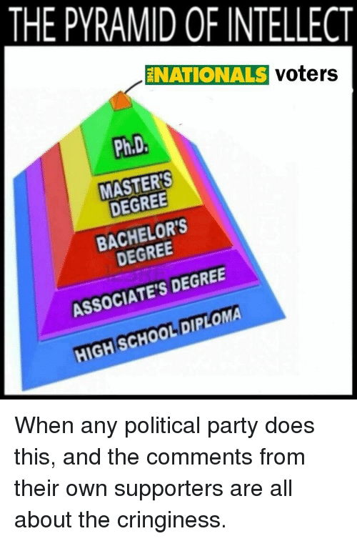 The Pyramid Of Intellect Enationals Voters Phd Masters Degree