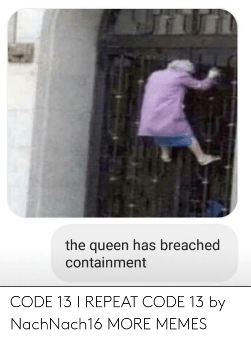 Dank, Memes, and Target: the queen has breached  containment CODE 13 I REPEAT CODE 13 by NachNach16 MORE MEMES