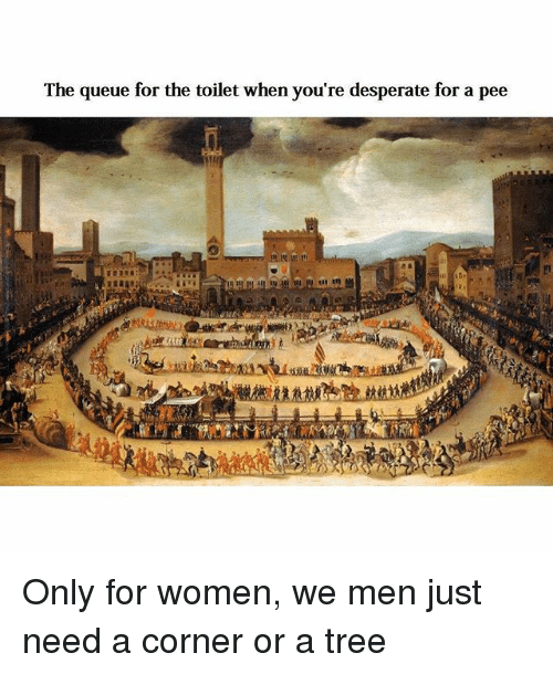 Men desperate to pee that necessary
