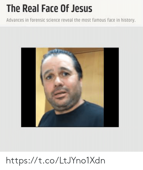 The Real Face Of Jesus Advances In Forensic Science Reveal The Most Famous Face In History Httpstcoltjyno1xdn Jesus Meme On Me Me