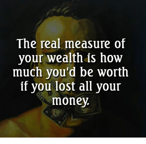 how is real wealth measured