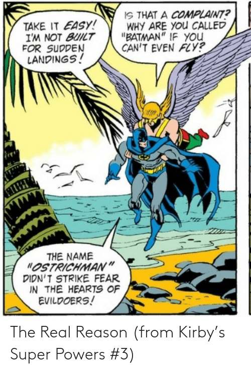 The Real, Reason, and Kirby: The Real Reason (from Kirby's Super Powers #3)