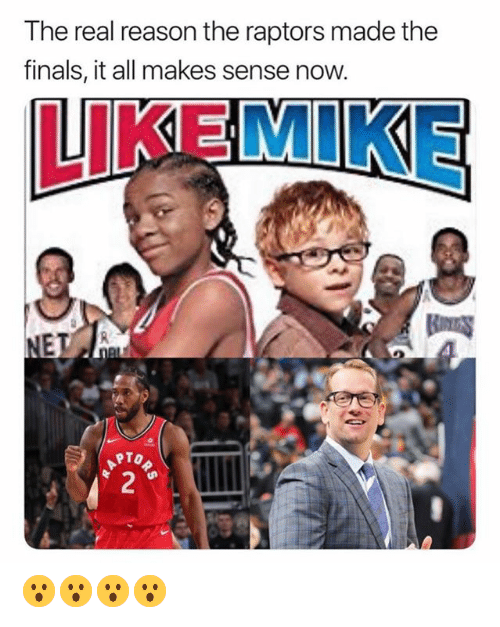 Finals, The Real, and Reason: The real reason the raptors made the  finals, it all makes sense now.  LIKEMIKE  RTO 😮😮😮😮