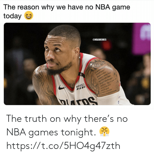 Memes, Nba, and Game: The reason why we have no NBA game  today S  @NBAMEMES The truth on why there's no NBA games tonight. 😤 https://t.co/5HO4g47zth
