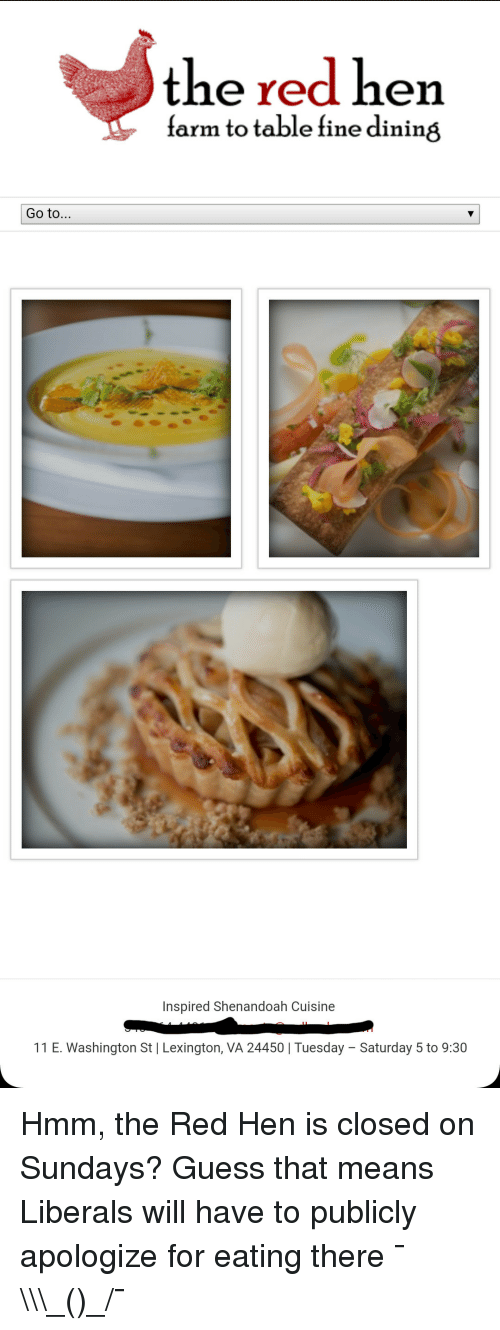 Guess, Red, And Table: The Red Hen Farm To Table Fine Dining Go