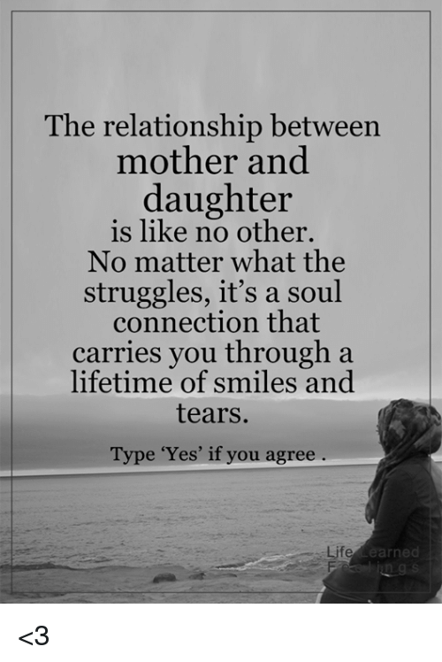 relationship between mother and daughter Free essay: two kinds by amy tan is about the intricacies and complexities in the relationship between a mother and daughter throughout the.