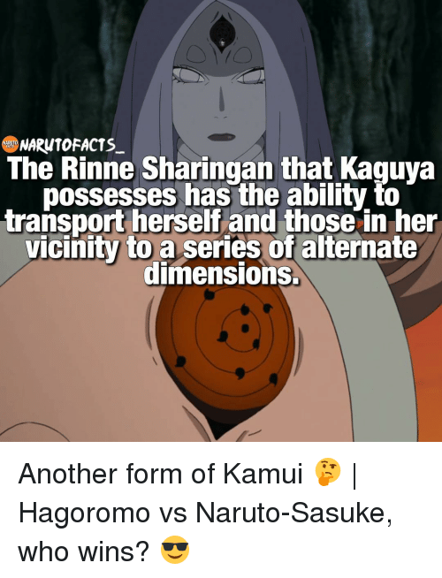 Memes And Transporter The Rinne Sharingan That Kaguya Possesses Has Ability