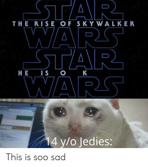 Sad, Wars, and Walker: THE RISE OF S K Y WALKER  HE IS C  WARS  4 y/o Jedies: This is soo sad
