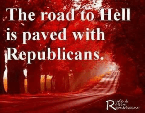 The Road, Republicans, and Road: The road to Tiel  is paved with  Republicans.  uot &  publicans