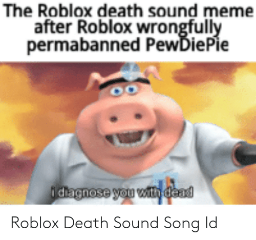 The Roblox Death Sound Meme After Roblox Wrongfully