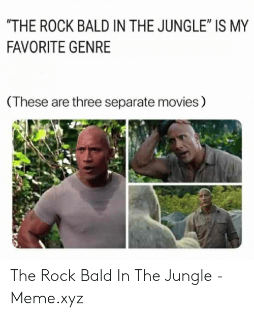 The Rock Bald In The Jungle Is My Favorite Genre These Are Three