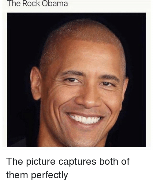 Memes, Obama, and The Rock: The Rock Obama The picture captures both of them perfectly