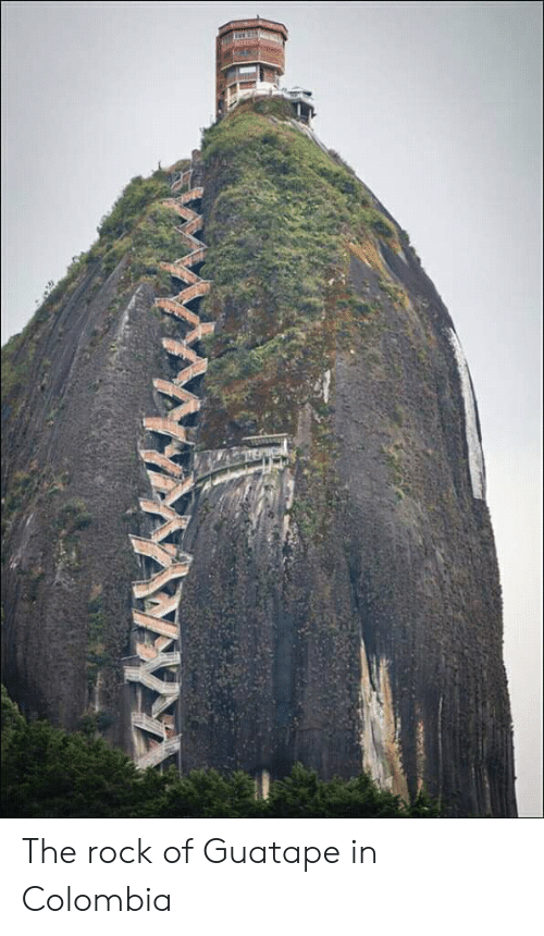 The Rock, Colombia, and Rock: The rock of Guatape in Colombia