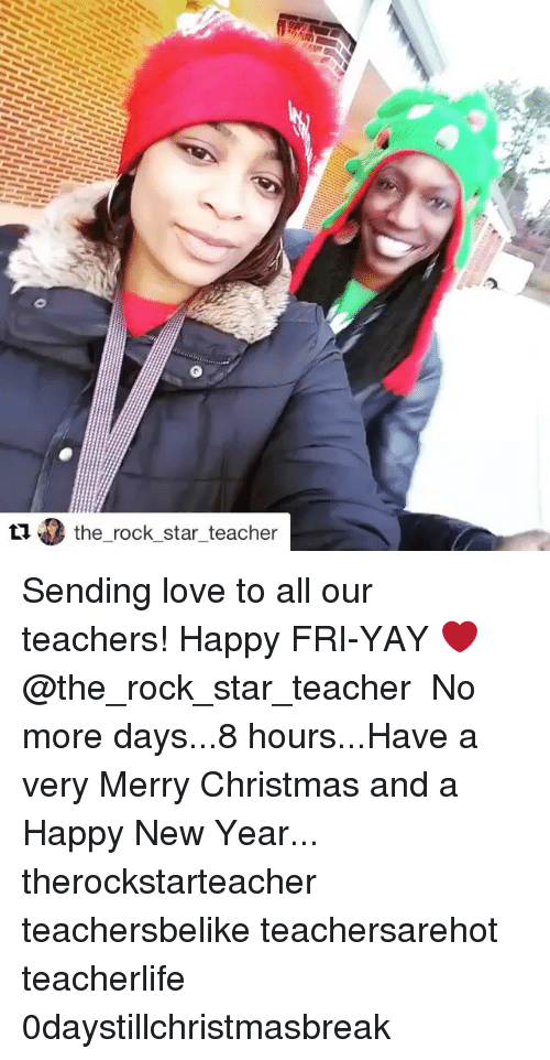 memes new years and the rock the rock star teacher sending love to