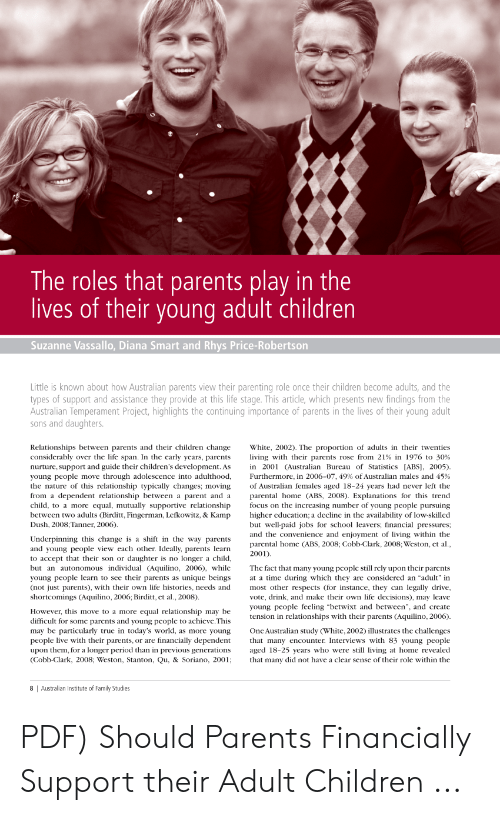 Parents As Equal Participants In Team >> The Roles That Parents Play In The Lives Of Their Young