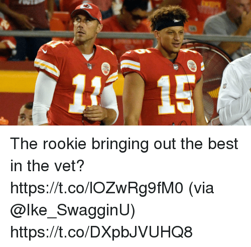 Memes, Best, and 🤖: The rookie bringing out the best in the vet? https://t.co/lOZwRg9fM0 (via @Ike_SwagginU) https://t.co/DXpbJVUHQ8