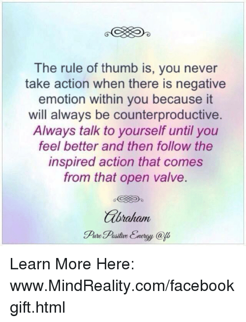 The Rule of Thumb Is You Never Take Action When There Is ...