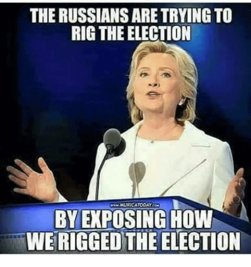 the russians are trying to rig the election muricatoday by 4786675 ✅ 25 best memes about russian russian memes,Russians Did It Meme