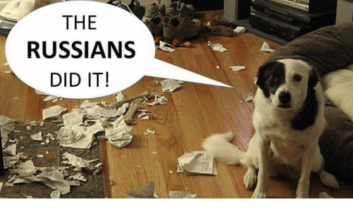 Memes, Russian, and 🤖: THE  RUSSIANS  DID IT!