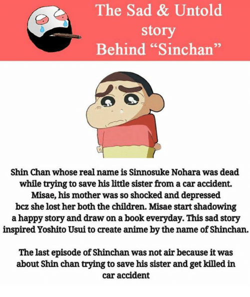 The Sad Untold Story Behind Sinchan Shin Chan Whose Re Name Is