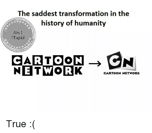 Cartoon Network, Memes, and Transformers: The saddest transformation in the  history of humanity  Am I  Stupid  NETWORK  ENI  CARTOON  CARTOON NETWORK True :(