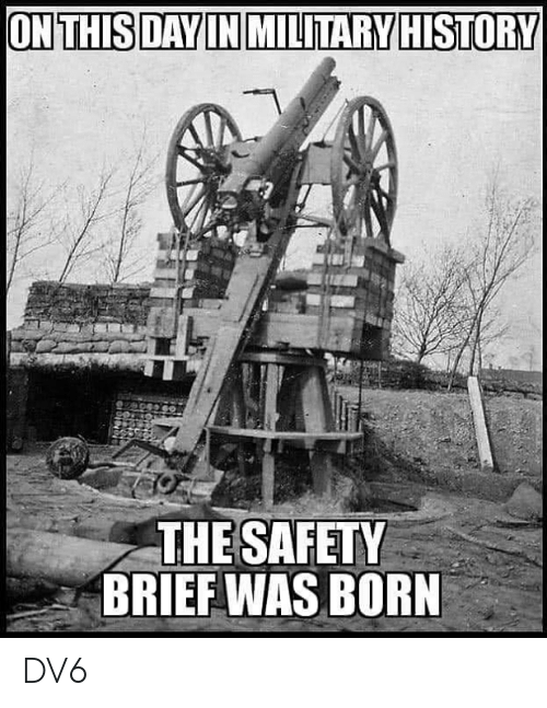 Memes, 🤖, and Born: THE SAFET  BRIEF WAS BORN DV6