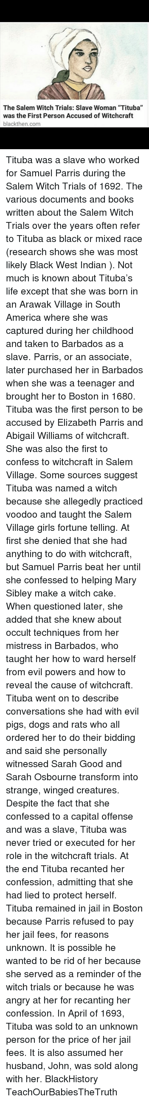 how is the character tituba inportant