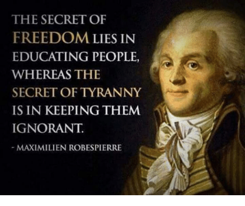 the-secret-of-freedom-lies-in-educating-
