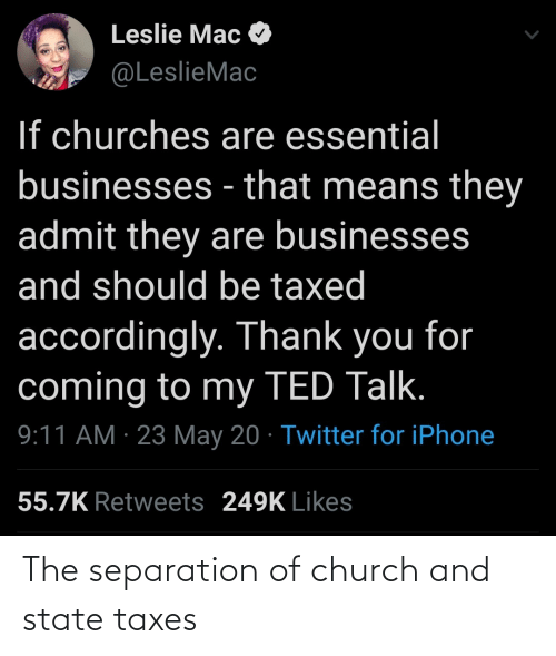 Church, Taxes, and State: The separation of church and state taxes