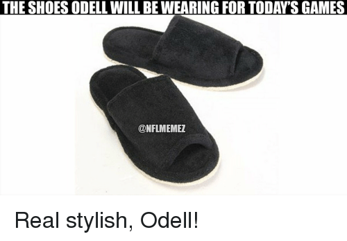 Nfl, Shoes, and Stylish: THE SHOES ODELL WIL BE WEARING FOR TODAYTS GAMES  ONFLMEMEZ Real stylish, Odell!