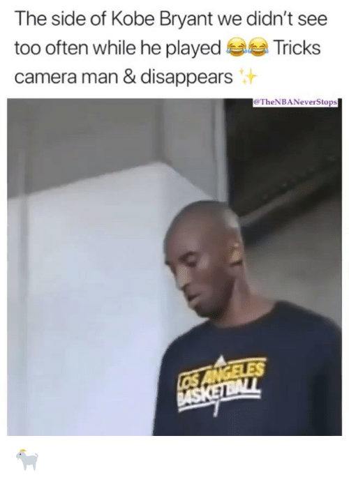 Kobe Bryant, Nba, and Camera: The side of Kobe Bryant we didn't see  too often while he played Tricks  camera man & disappears  TheNBANeverStops 🐐