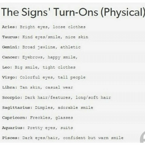 Pisces man turn ons