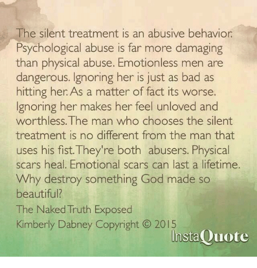 How To Deal With Silent Treatment Abuse