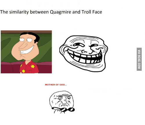 Quagmire Mother Of God And Troll Face The Similarity Between