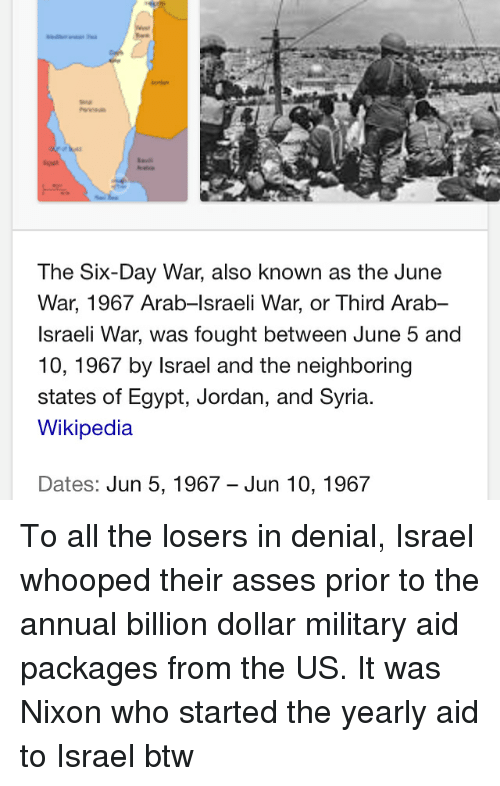 Memes Wikipedia And Israel The Six Day War Also Known As