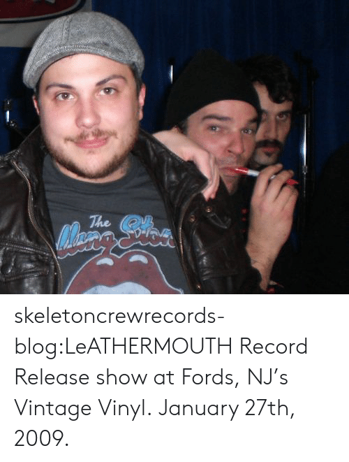 Tumblr, Blog, and Http: The skeletoncrewrecords-blog:LeATHERMOUTH Record Release show at Fords, NJ's Vintage Vinyl. January 27th, 2009.