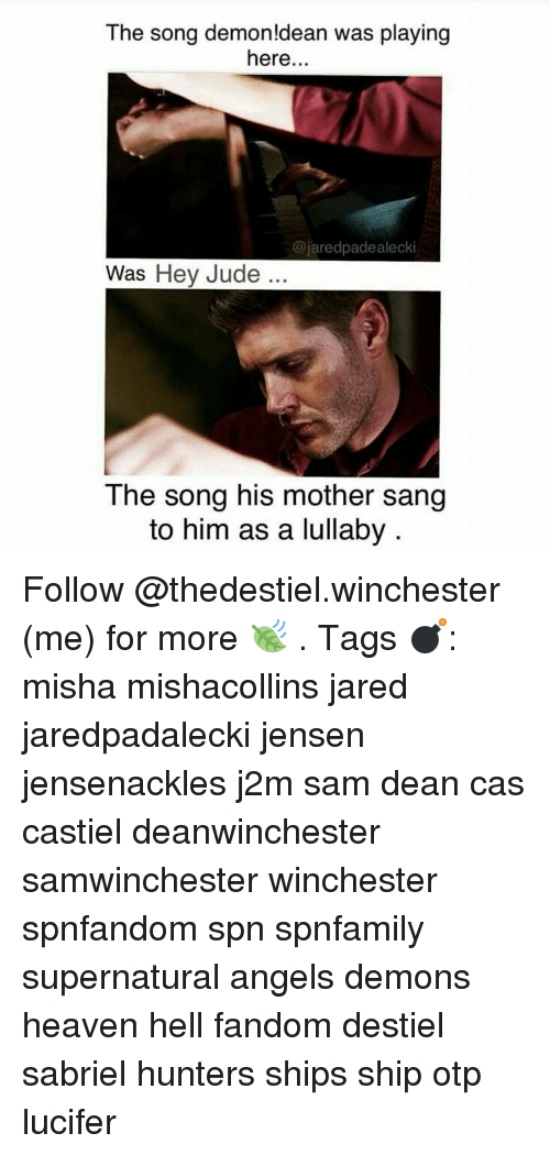 The Song Demon!dean Was Playing Here Jaredpadealecki Was Hey