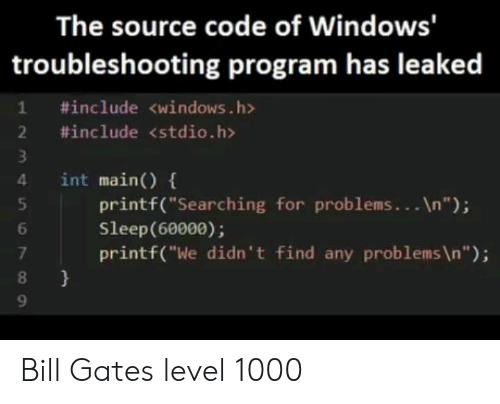 The Source Code of Windows Troubleshooting Program Has Leaked 1