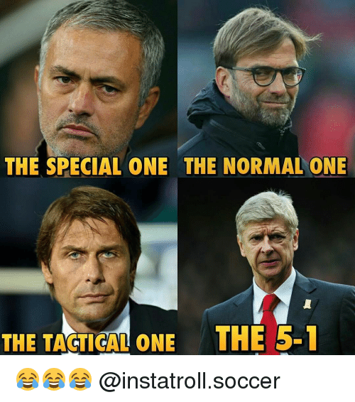 Memes, 🤖, and The Specials: THE SPECIAL ONE THE NORMAL ONE  THE TACTICAL ONE THE 5-1 😂😂😂 @instatroll.soccer