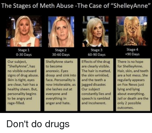 The Stages of Meth Abuse -The Case of ShelleyAnne Stage 1 0-30 Days